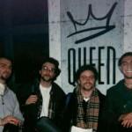 La prima foto degli Aurora: ventenni fuori dalla discoteca Queen di Verona dove hanno esordito nel febbraio 1998